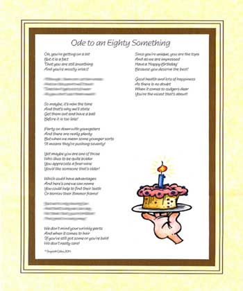 Ode to an Eighty Something