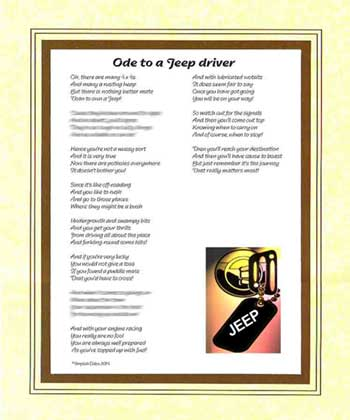Ode to a Jeep Driver