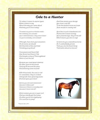 Ode to a Hunter Horse