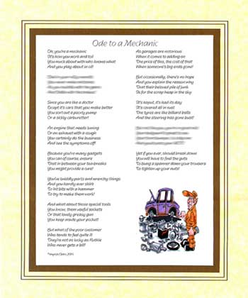 Ode to a Car Mechanic