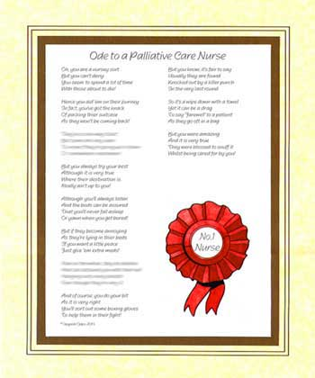Ode to a Palliative Care NurseNurse