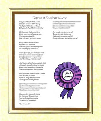 Ode to a Student Nurse