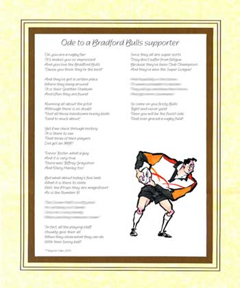 Ode to a Bradford Bulls Supporter