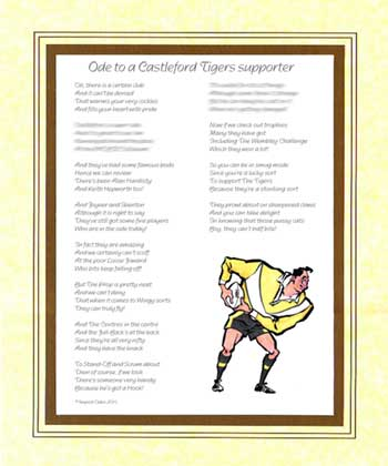 Ode to a Castleford Supporter