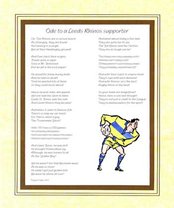 Ode to a Leeds Rhinos Supporter