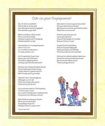 Ode on Your Engagement