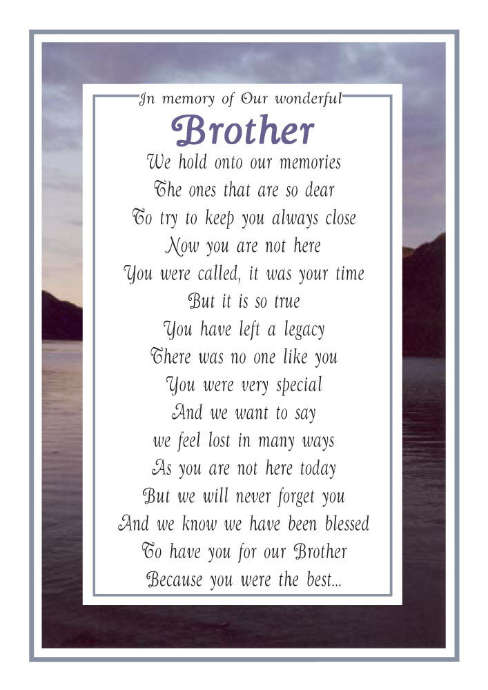Our brother - Memorial