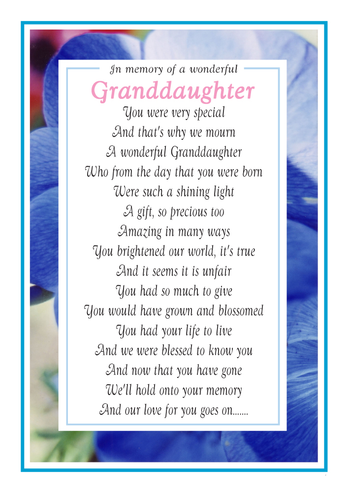 Our Granddaughter - Memorial