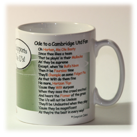 Cambridge United Mug Verse