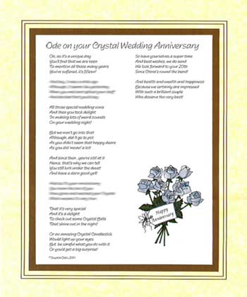Ode on Your Crystal Wedding Anniversary