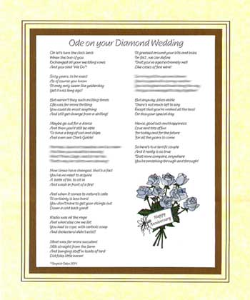 Ode on Your Diamond Wedding Anniversary