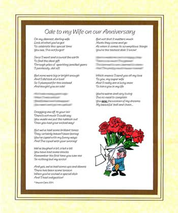 Ode to my Wife on Our Wedding Anniversary