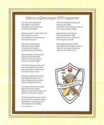 Ode to a Glamorgan Cricket Supporter