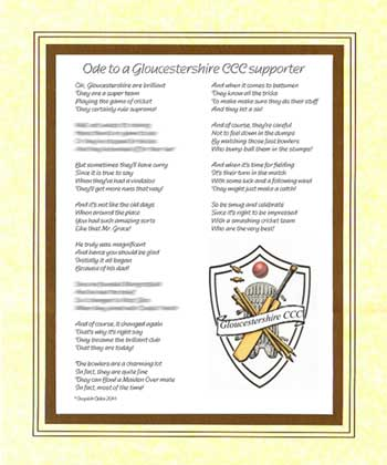 Ode to a Gloucestershire Supporter