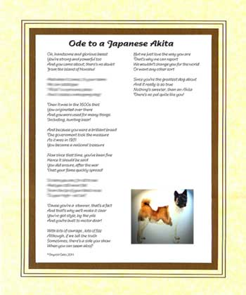 Ode to a Japanese Akita