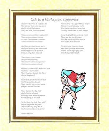 Ode to a Harlequins Supporter