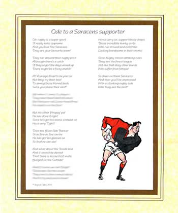 Ode to a Saracens Supporter
