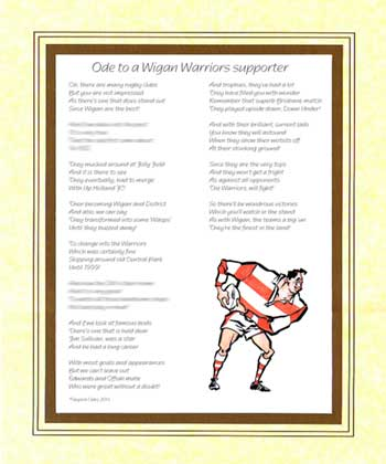 Ode to a Wigan Warriors Supporter