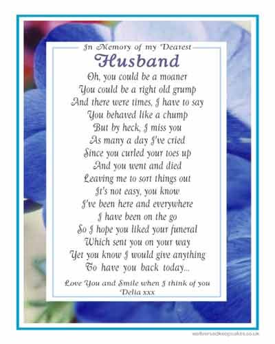 My Husband - Lightly Humorous Memorial